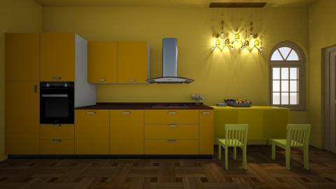yellow cooking - Glamour - Kitchen  - by deleted_1603149910_licorice123