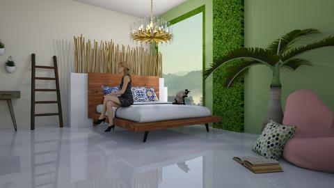 Relaxing Jungle - Modern - Bedroom - by artsy_naturelover