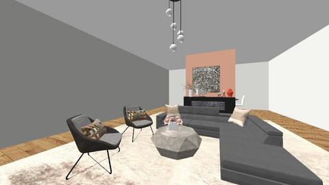 Peach Grey Room - Modern - by FabulousGirl35