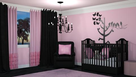 Black Pink Nursery - Kids room  - by creato