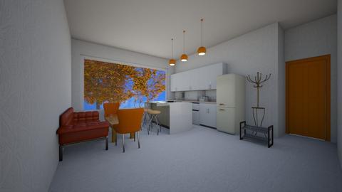 Orange Apartment - by imatacocat