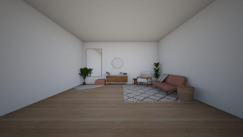 wood and pink - Living room - by Samantha Ruoff