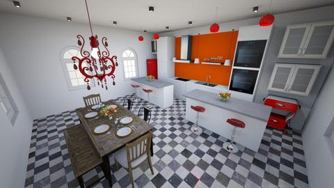 Colorful Kitchen - Eclectic - Kitchen  - by abigailherbold