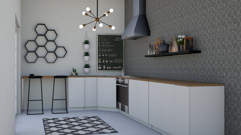tiny kitchen  - Kitchen  - by Thamara Cummer