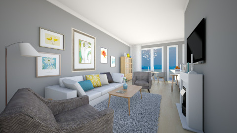 LR for Alma - Modern - Living room  - by channing4