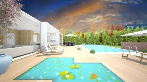 Backyard - Modern - Garden  - by camilla_saurus