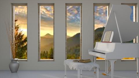 White Piano - Modern - Living room  - by millerfam