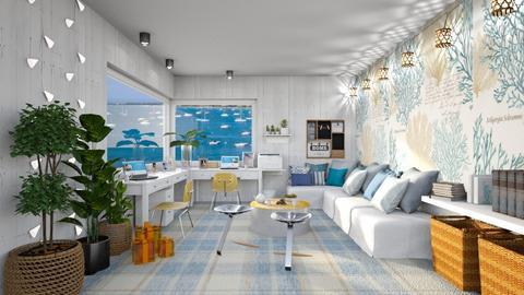Coastal LOVE - Office  - by Ferplace