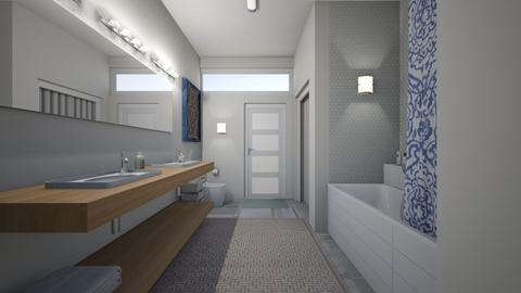 budget bathroom 2 - Modern - Bathroom  - by kat1016