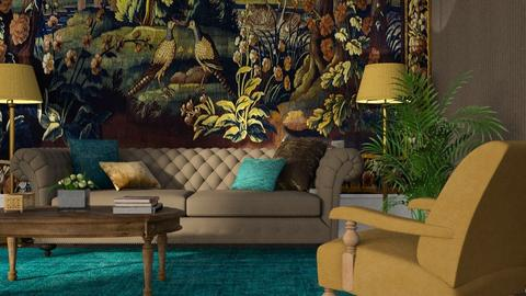 Tapestry and Velvet - Living room  - by GraceKathryn