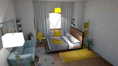 yellow blue teen plants  - Glamour - Bedroom  - by floofus