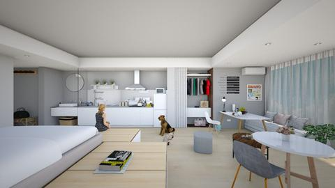 Studio Apartement - Modern - Bedroom  - by karisahsalim