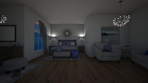 Bedroom with Blue Accent - Bedroom - by guineapiglover1