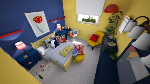 Vibrant Tween Girls Room - Eclectic - Bedroom  - by EileenGal1