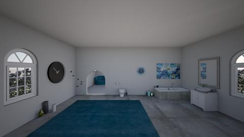turqoise and metal - Modern - Bathroom - by axnx_8_