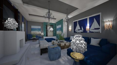 Living_Blue_Grey_Tyrquoise - Modern - Living room  - by Nikos Tsokos