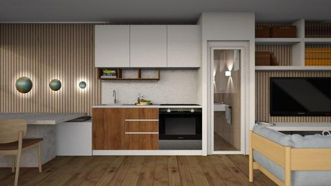 Container home - Modern - Kitchen  - by nickynunes