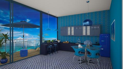 Ocean Inspired Kitchen - Kitchen  - by MyDesignIdeas