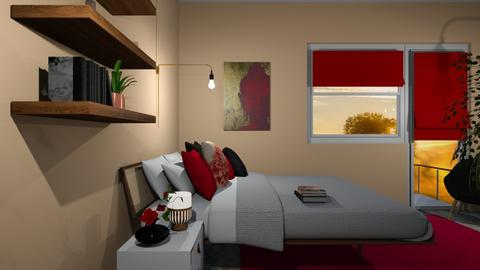 Red Buddha - Bedroom - by agapka