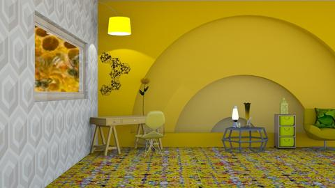 Beehouse inspired office - Office  - by Jahsoftball_