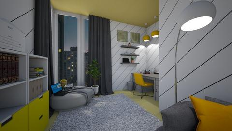 Yellow and Grey Office - Office  - by Annalise_585333