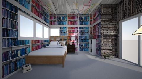 LIbrary Bedroom  - Eclectic - Bedroom  - by Zombiecat