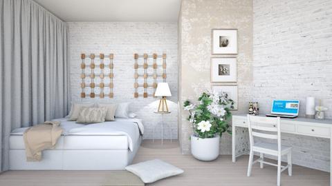 light beige bed - by mollysamuel