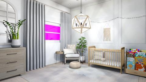 Neutral Nursery - Modern - Kids room  - by Lambogirl