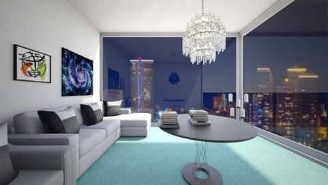living room next 2 city - Living room  - by Aldio scoot kid