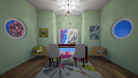 Spring scene - Glamour - Dining room  - by waffledoghaha