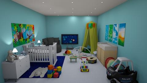 blue - Modern - Kids room  - by kellynazha