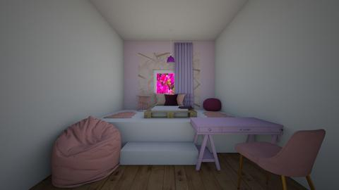Pink and Purple Room - Modern - Bedroom  - by thingamabobs