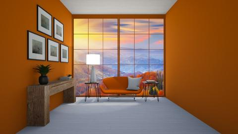 Orange Living Room - Living room  - by Popcorn the Designer