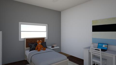 Ryders Bedroom - Minimal - Bedroom  - by cookie17