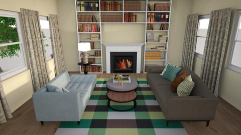 Green Living - Living room  - by Flaflaf