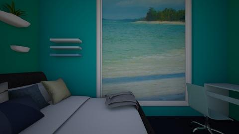 Blue Seaside Room - Bedroom  - by hannahelise