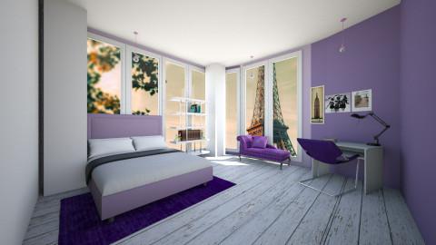 Purple Bedroom - Bedroom - by Sunny Bunny