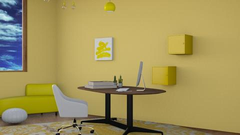 Yellow Office - Modern - Office  - by deleted_1618136910_FURFUR