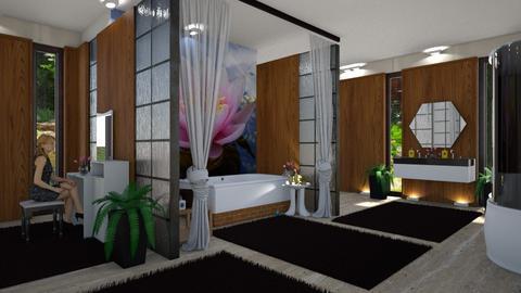 Lily pond bathroom - by ilcsi1860