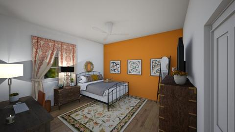 orange bliss - Bedroom  - by mandie101