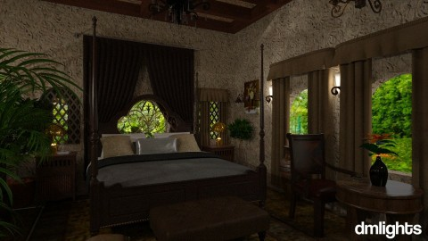 Tuscan bedroom3 - Country - Bedroom  - by DMLights-user-1468788