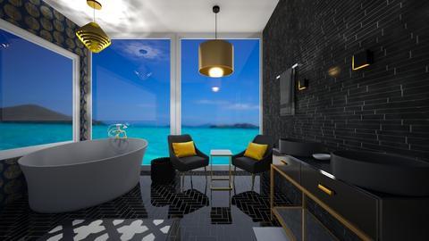 black and gold bathroom - Bathroom  - by tessmcquillan