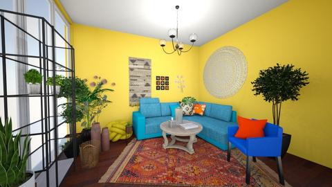 bohemian living room - Living room  - by Hailey0505