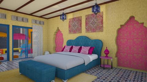 Relaxing in bright color  - Eclectic - Bedroom  - by Amyz625