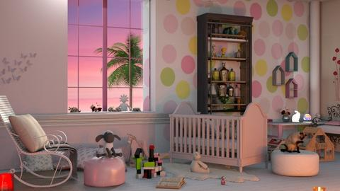 Pink Girl Nursery - Classic - Living room  - by elephant in savanna