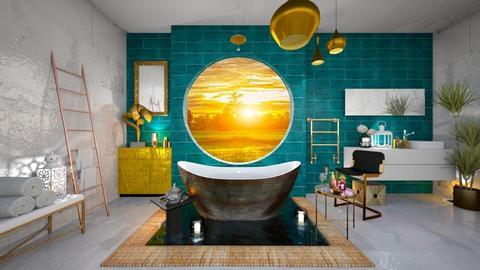 Turqoise Bathroom - Bathroom - by rungsimas