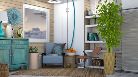 Surf Living - Retro - Living room  - by Isaacarchitect
