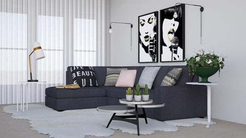 GREY NEUTRALS - Living room - by Deepali Srivastava
