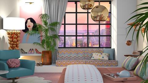 millennial bedroom - by Marina Struwig