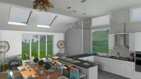 Kitchen and Sunroom  - Kitchen  - by skiiergirl315